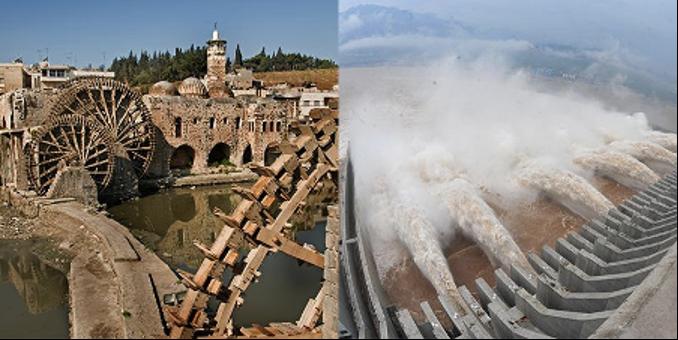 vattenhjul och vattenkraft