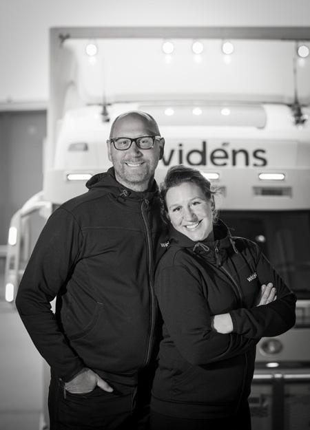 VD Pierre och vice VD Malin driver Widéns Åkeri.